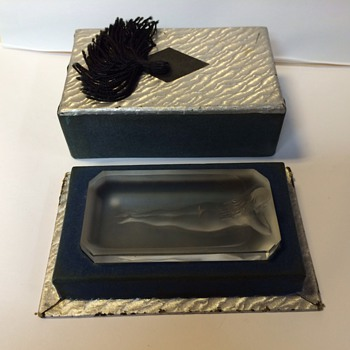 Hoffman pin tray - Art Glass