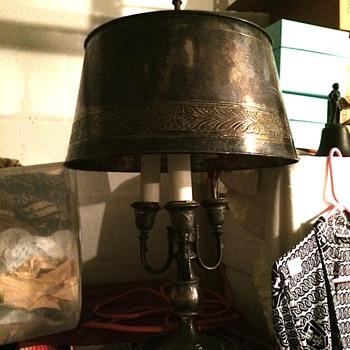 Old Silver Metal Lamp - Lamps