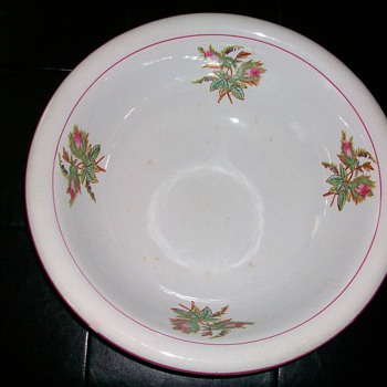 N. J. POTTERY CO. WASH BOWL - Art Pottery