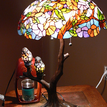 Stained Glass Bird Lamp - Lamps