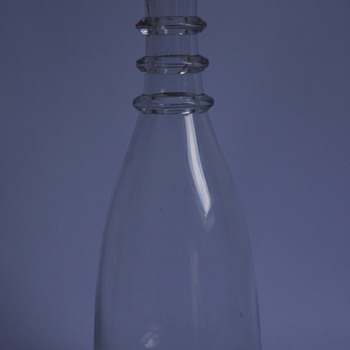 A Tapered Triple Ring Carafe