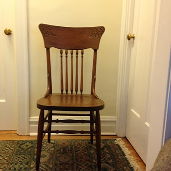 Press Back Chair: How Old? - Furniture