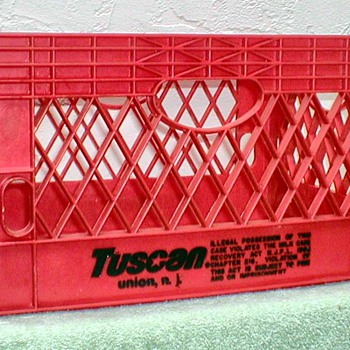 Tuscan Dairy Farms Milk Crate - Advertising