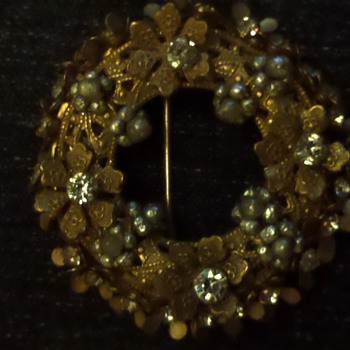 Miriam Haskell Brooch - Costume Jewelry