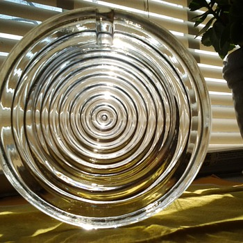 Round Glass Medium Ashtray