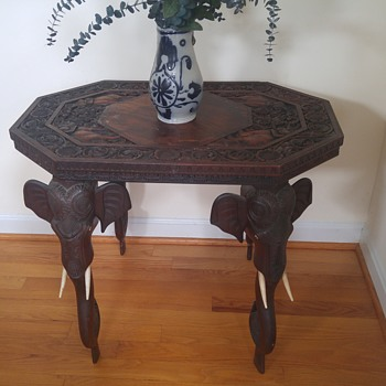 Antique elephant table