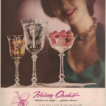 1950 Heisey Glass Advertisement