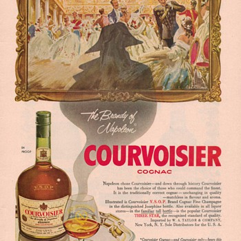 1954 Courvoisier Cognac Advertisement 1 - Advertising