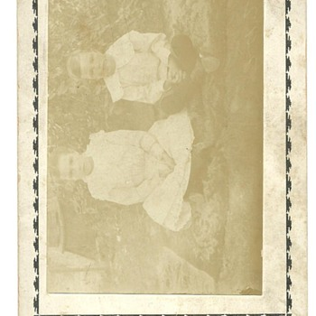 Cabinet Card of Goldie C. Call (Poulton) & John L. Call