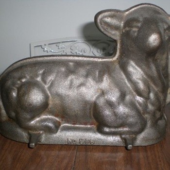 Old Cast Iron and Cast Aluminum Lamb Cake Pans