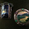Arts & Crafts Enamel Landscape Brooches - Hunt & Varley