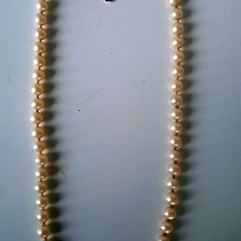Cultured Pearl Choker/.835 Clasp, Thrift Shop Find $2.00