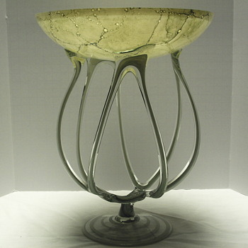"Glass Compote""From Poland"",XX Century"