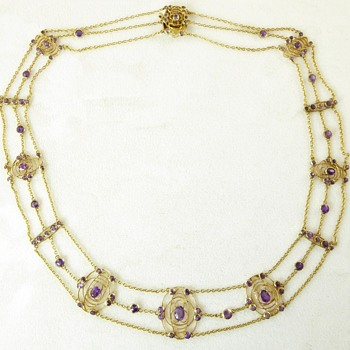 Art Nouveau Necklace (?Liberty ?Glasgow School) - Art Nouveau