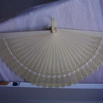 Ivory hand fan