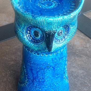 VINTAGE ROSENTHAL NETTER RIMINI BLUE OWL  - Mid-Century Modern
