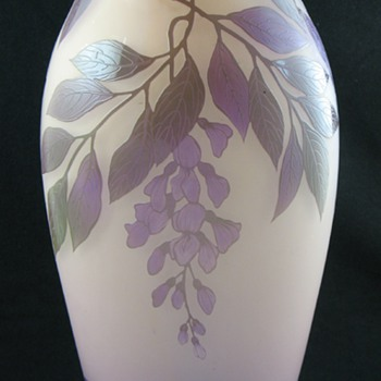 """Art"" Cameo Glass Vase ... French?  Bohemian?"