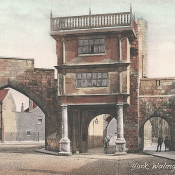 YORK, WALMGATE BAR c. 1900 - Postcards