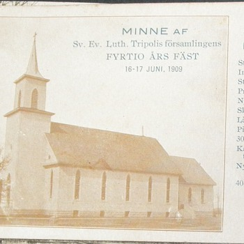 The First Swedish Lutheran Church in Wilmar, MN - Postcards
