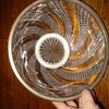 Baccarat Diamond Serpentine pattern large bowl mounted