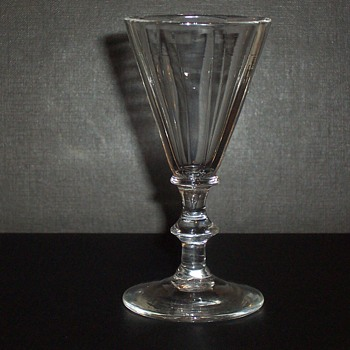 18th century Scandinavian fluted Glass