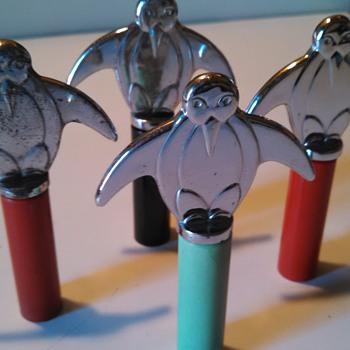 Art Deco Penguin Corkscrews