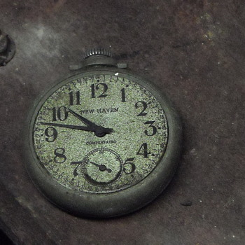 1937 New Haven Compensated pocket watch