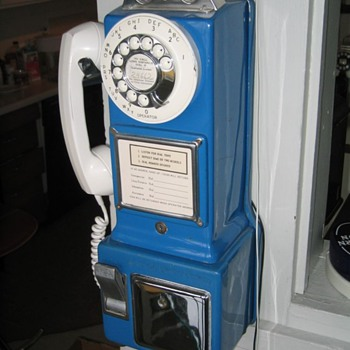 Automatic Electric Co. Blue Three-Slot Payphone