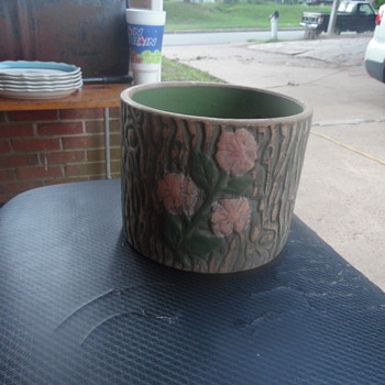 Beautiful Antique Green Pottery Or Stoneware