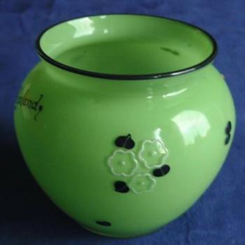 Loetz Tango Enamel -  #3 Poppy - Art Glass