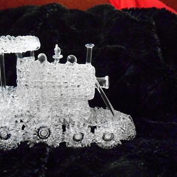 Spun Glass Locomotive Engine - Art Glass