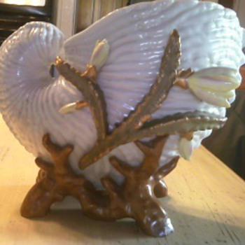 Dresden Nautilus Shell - Art Pottery