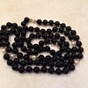 Black Onyx Gold and Pearl Bead Necklace