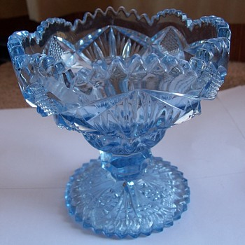 Unknown Maker of Beautiful Blue Candy Dish or Bowl