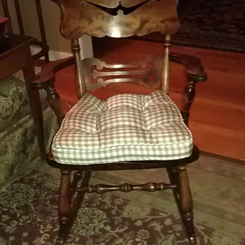 oak rocker rocking chair - Furniture