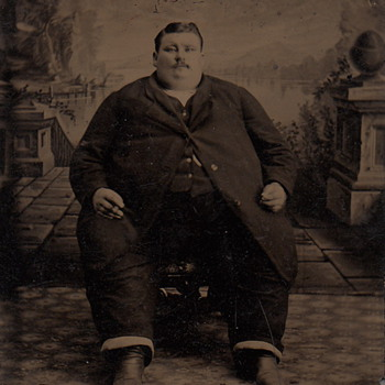 Fat Man Tintype