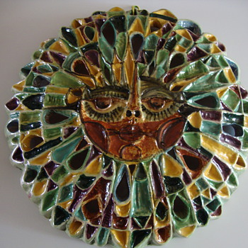 large pottery sun - Art Pottery