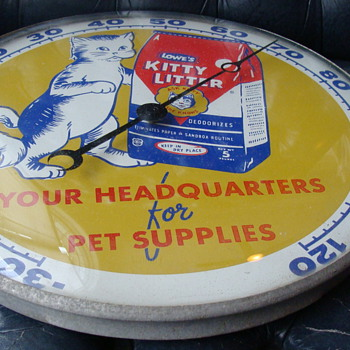 1956 Kitty Litter PAM Thermometer - Advertising