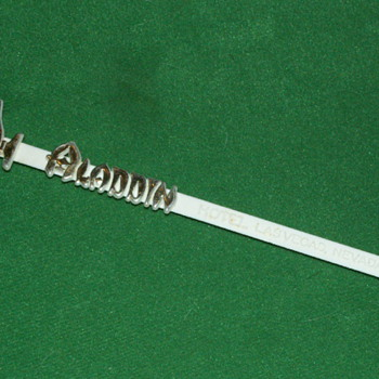 Antique/Vintage Aladdin Casino Swizzle Stick ~ Las Vegas, Nevada - Advertising