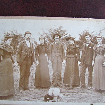 1890s Photograph  of a Group of Lovely People