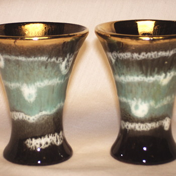 Scheurich,Western Germany, Gobelet pair, 20 Century - Art Pottery