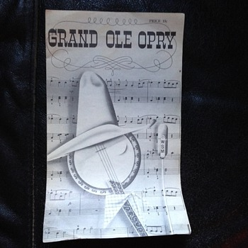 Nov. 2, 1963 Grand Ole Opry Brochure - Paper