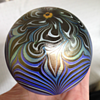Tiffany Favrille Iridescent glass paperweight