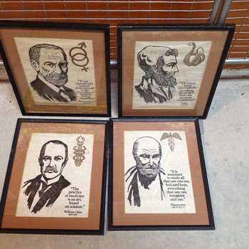 Wood block prints I think, unknown age or artist - Posters and Prints