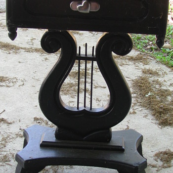 Lyre end tables