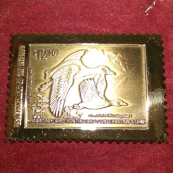 Brass Migratory Bird Hunting & Conservation Stamp 1991