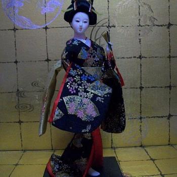 Geisha in Black Kimono