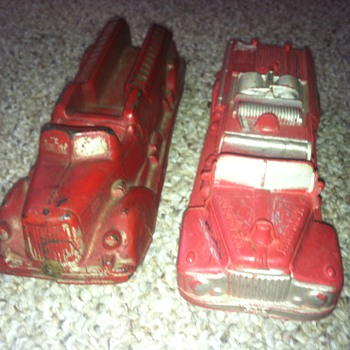 Auburn Rubber Fire Engines - Model Cars