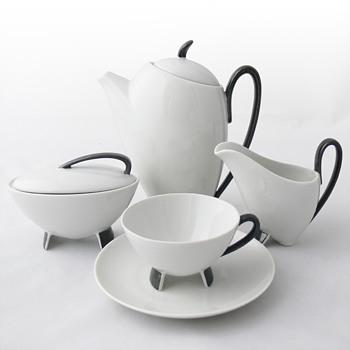 Coffee-set. Prof. Franz-Josef Karl (Porzellan Neuerer/Bavaria, 1954) - Art Pottery