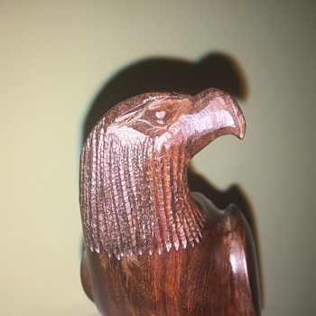 Carved wooden eagle - Visual Art